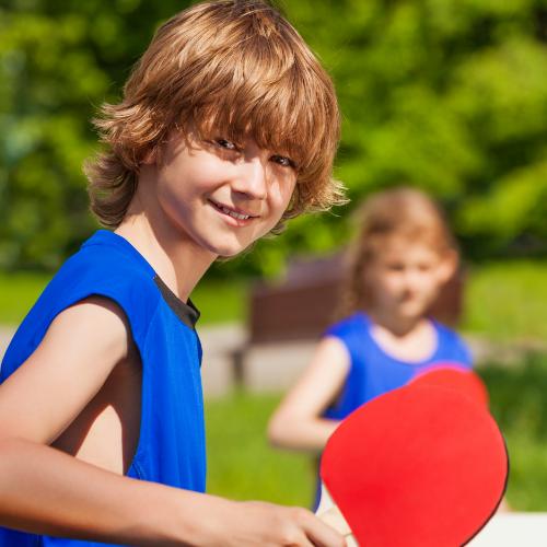 Die Tischtennis-AG der Friedrich Heuß Schule